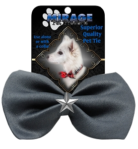 Silver Star Widget Pet Bowtie Grey